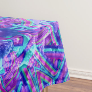 Purple And Blue Vintage Kaleidoscope  Tablecloth