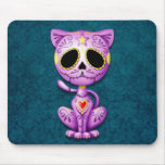 Purple and Blue Zombie Sugar Kitten Mouse Pad
