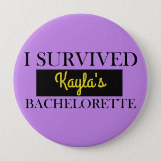 Purple and Fun Bachelorette Custom 10 Cm Round Badge