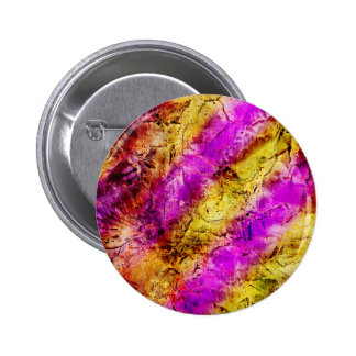 Purple and Gold Abstract Paint Pinback Button