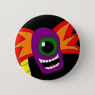Purple and Gold Alien Head Pin