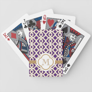 Purple and Gold Bicycle Playing Cards
