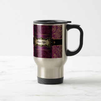 Purple and Gold Bunco Collection Travel Mug