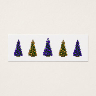 Purple and Gold Christmas Tree Slim Gift Tag