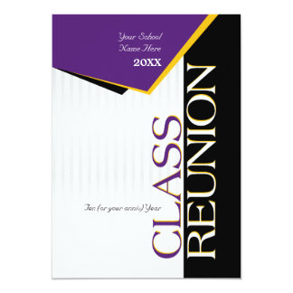 Purple and gold Class Reunion Invitation