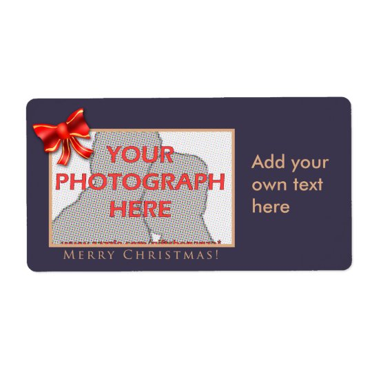 Purple and gold customisable photo labels