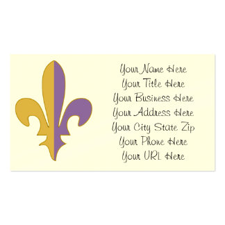 Purple and Gold fleur de lis gifts Double-Sided Standard Business Cards (Pack Of 100)