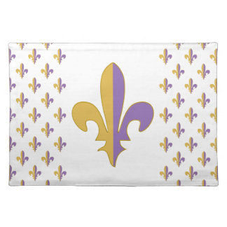 Purple and Gold fleur de lis gifts Placemats