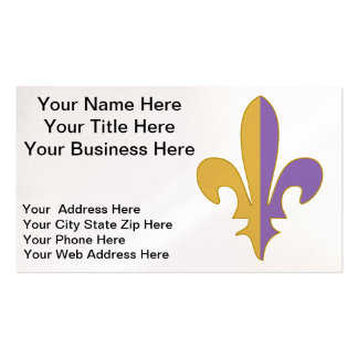 Purple and Gold fleur de lis office Pack Of Standard Business Cards