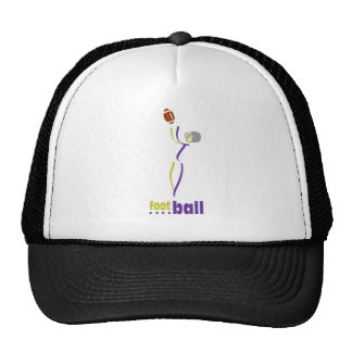 Purple and gold football player hat