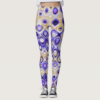 Purple and Gold Geo Leggings