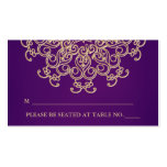 Purple and Gold Indian Inspired Seating Place Card Pack Of Standard Business Cards