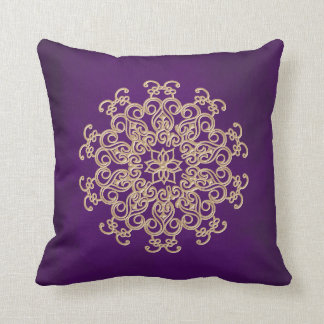 PURPLE and Gold Indian Style Cushion
