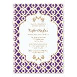 Purple and Gold Moroccan Bridal Shower Invites 13 Cm X 18 Cm Invitation Card