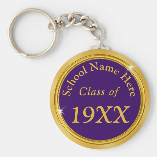 Purple and Gold Personalised Class Reunion Gifts Key