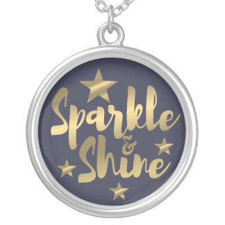 purple and gold sparkle and shine silver necklace