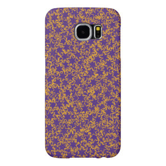 Purple and Gold Star Team Spirit Sports Colors Samsung Galaxy S6 Cases