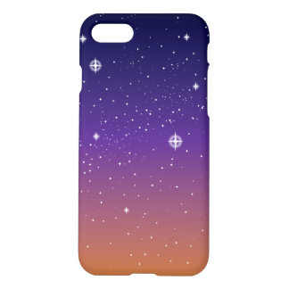 Purple and Gold Starry Sunset Sky iPhone 7 Case