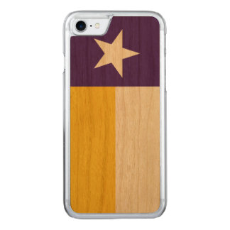 Purple and Gold Texas Flag Carved iPhone 8/7 Case