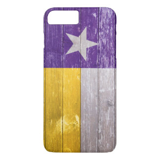 Purple and Gold Texas Flag Painted Old Wood iPhone 7 Plus Case