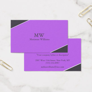 Purple and Gray Women's Professional Business Card