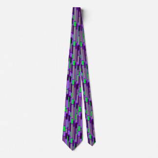 Purple and green 1960's retro style tie