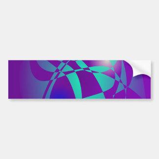 Purple and Green 2 Bumper Sticker