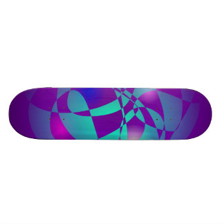 Purple and Green 2 Skate Board