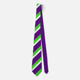 [Purple and Green] Bold Stripes Tie