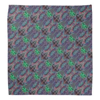 Purple and Green Butterfly Pattern Bandana