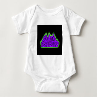 Purple and Green Castle. Baby Bodysuit