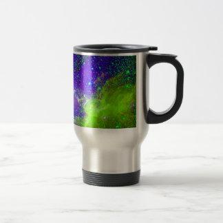 purple and green Galaxy Nebula space image. Coffee Mugs