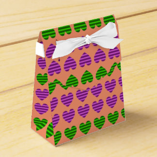 Purple and Green Gradient Hearts Favour Boxes
