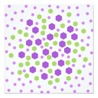 Purple and Green Hexagon Spots. Custom Announcement