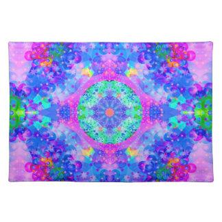 Purple and Green Kaleidoscope  Fractal Art Placemat