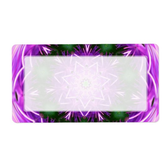 Purple and Green Kaleidoscope Mandala