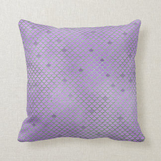 Purple and Green Mermaid Scales Cushion