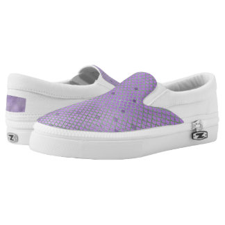 Purple and Green Mermaid Scales Slip-On Shoes