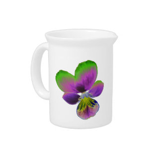 Purple and Green Pansy Pitcher
