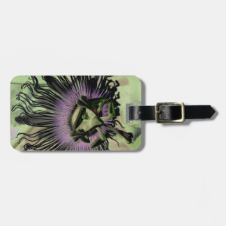 Purple and Green Passion Flower Bloom Bag Tags
