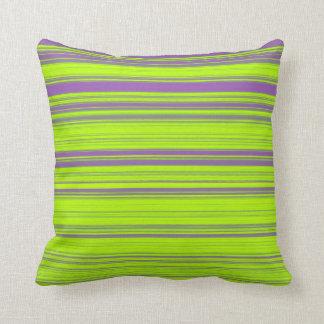 Purple and Green Stripes Cushion