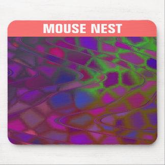 Purple and Green Swirls Mousepad