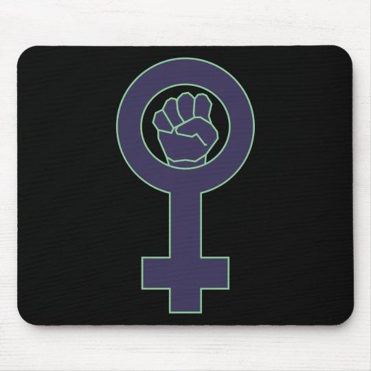 Purple and green venus mirror design mouse mat