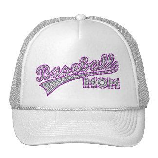 Purple And Grey Baseball Mom Hat