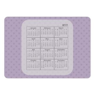 Purple and Grey Stars 2015 Calendar Business Card