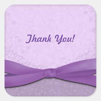 Purple and Lavender Floral Square Sticker