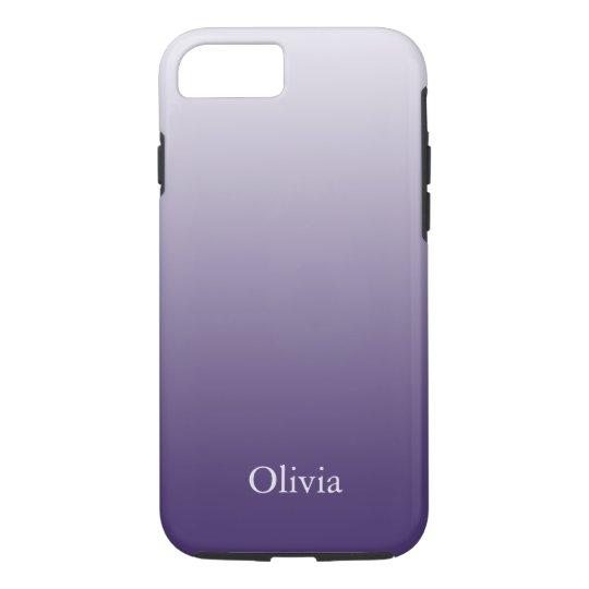 Purple And Lavender Gradient iPhone 7 Case