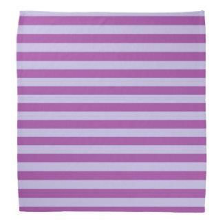 Purple and Lavender Stripes Bandana