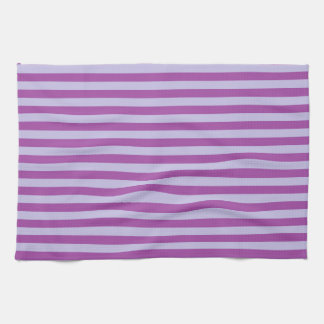 Purple and Lavender Stripes Tea Towel
