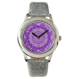 Purple and Lavender Victorian Floral Wristwatch